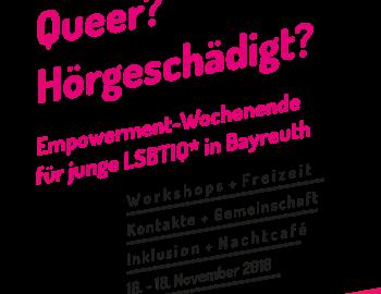 Jung, queer und hörgeschädigt? Komm' zum Empowerment-Wochenende von HörEnswert e.V.